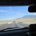 On the way to the Mojave Desert from San José, one drives through Bakersfield, then over Tehachapi Pass, coming up ahead