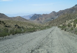 On the way down the other side of Tecopa Pass, we pass through a still-active mining area
