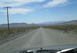 The FJ enjoys driving the washboard of Furnace Creek Road at a reasonably fast speed