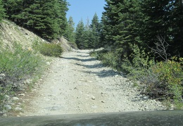 Taking it easy this morning, I go for a drive up the dirt road that leads toward Emma Lake