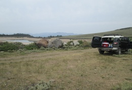 I park the FJ at Lobdell Lake and begin my hike up to Mount Patterson from here