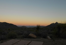 In quiet serenity, I watch the sunset at Horse Thief Spring campground—beautiful