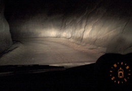 Driving Titus Canyon after dark between tall walls for a few miles is an addictive video game