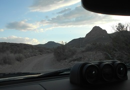 My road narrows as it rises up into the Grapevine Mountains toward Titus Canyon