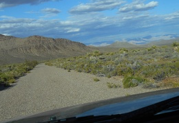 The ride down Excelsior Mine Road from Tecopa Pass is fun on a bicycle too
