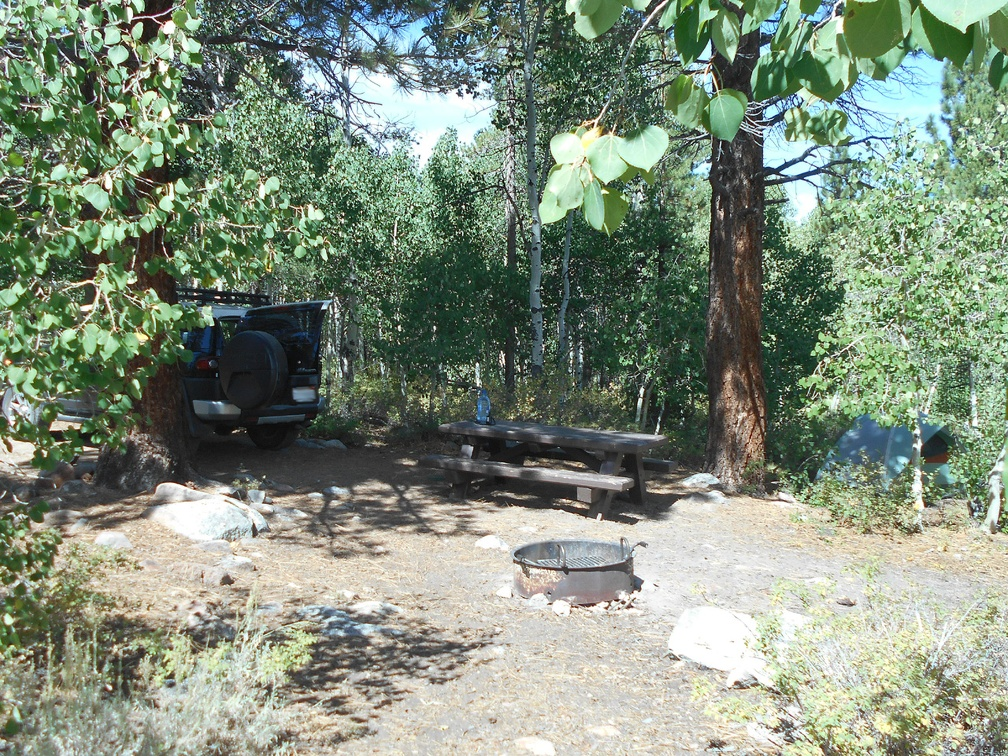 Obsidian Campground next to Hoover Wilderness is a great place to start an Eastern Sierras weekend
