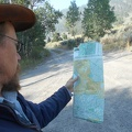 I spend some time checking maps for today's hike in the Granite Mountains Wilderness