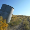 The leaning Cowtrack Spring water tank: so far, I'm not seeing any water anywhere