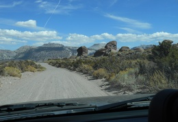 Without a plan, I've just decided to drive a few of the dirt roads in the area of the Mono Craters