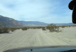 Back on Saline Valley Road: bumpy washboard on this stretch