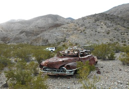 Lead Canyon's camp host and only permanent resident is this old car