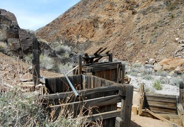 A few remains of the old Blue Monster Mine site are still intact