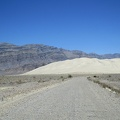 After almost 10 bumpy, washboard miles, I approach Eureka Dunes