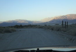 I drive past Salt Lake as I arrive in Saline Valley