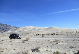 A brief stop at Eureka Dunes before continuing onward is essential