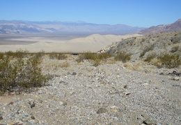 I leave the FJ in front of a panoramic view of the Eureka Dunes as I start today's hike