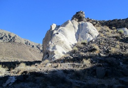 White outcrop