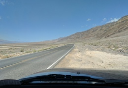 "Though paved, North Highway is quieter than ""Downtown Death Valley"""