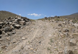 The road's a bit steep, but not much loose rock