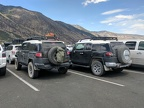 I drive over to the Mono Lake visitor center and park by a dustier FJ