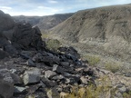 I climb up out of an unnamed Saline Range canyon
