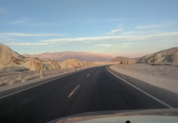 A beautiful sunrise drive into Death Valley Park for today's hike