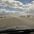Back down on Panamint Valley Road, the dust is blowing