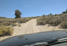 My road is a slow sandy uphill, and the FJ is doing well on it so far