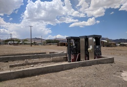 Here are the gas pumps from the dead gas station at Mina, Nevada