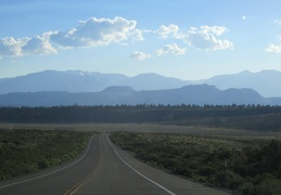 Hwy 120 heads toward the Sierra and Crater Mountain